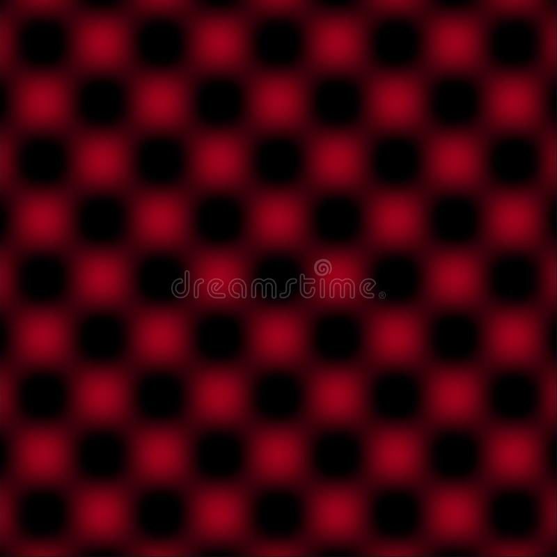 Überprüfte Gitter-Kreisunschärfe - Rot u. Schwarzes vektor abbildung