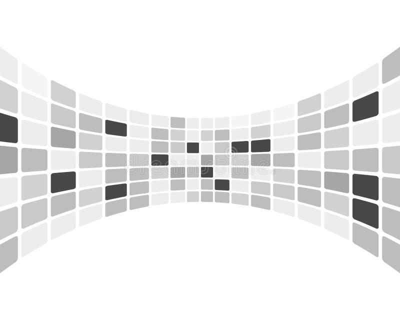 Überprüfter Schwarzweiss-Hintergrund