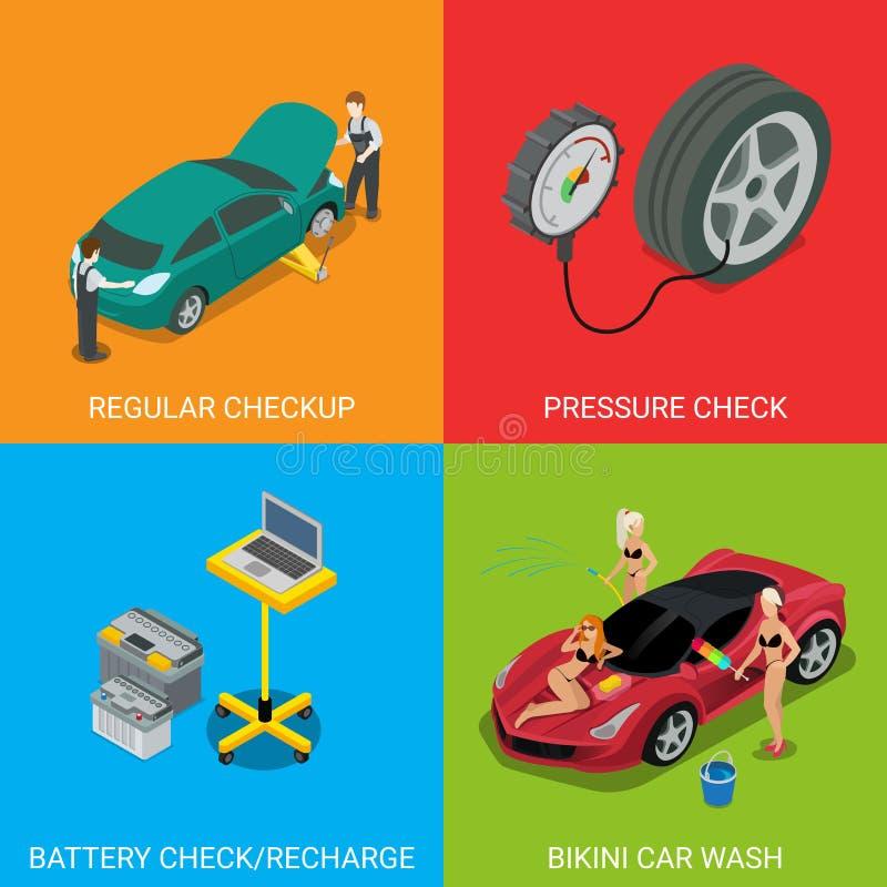 Überprüfungsdruck-Kontrollbatterie des Autoservices regelmäßige lizenzfreie stockfotos