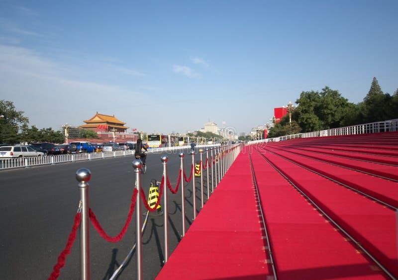 Überprüfungstandplatz in Peking für 60. Nationaltag lizenzfreies stockfoto