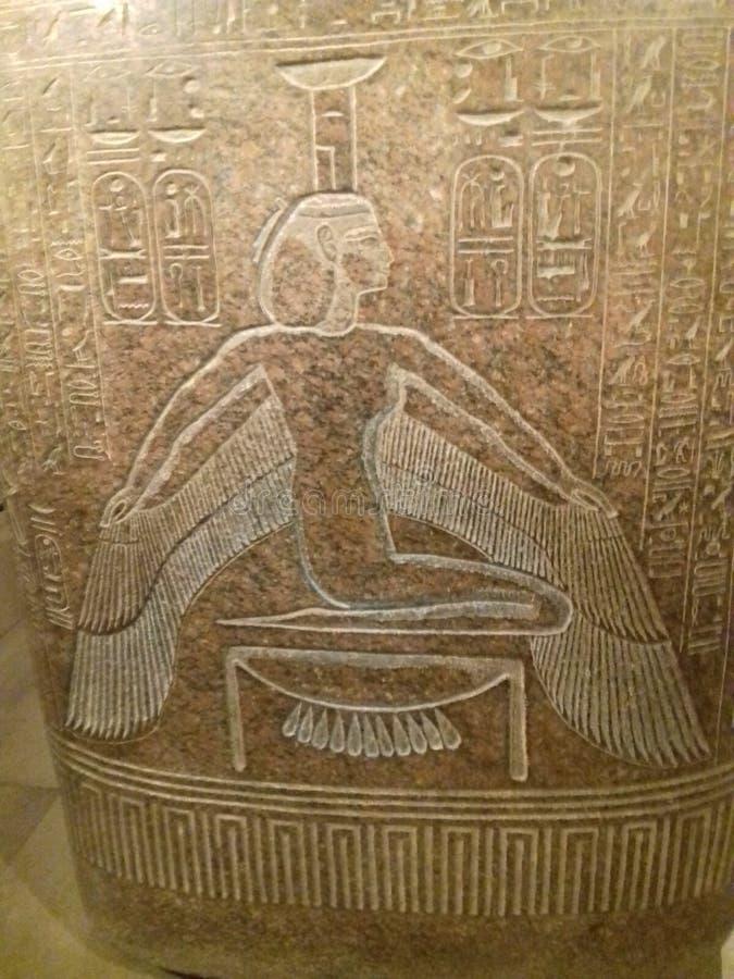 ÜBERRASCHENDE ÄGYPTEN-SKULPTUR stockbild