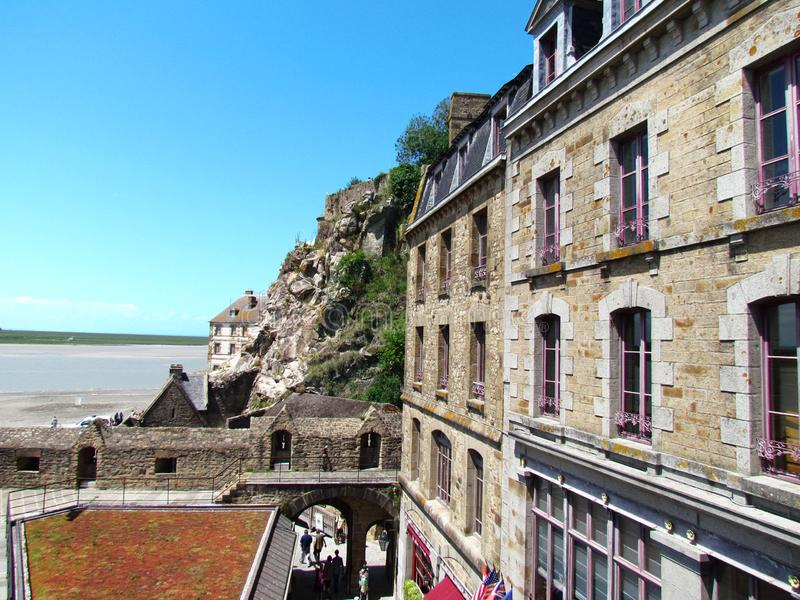 Überraschende Ansicht von Abtei Saint Michel lizenzfreie stockfotografie