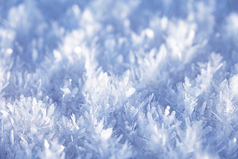 Überraschende Eiskristalle nah oben lizenzfreie stockfotografie
