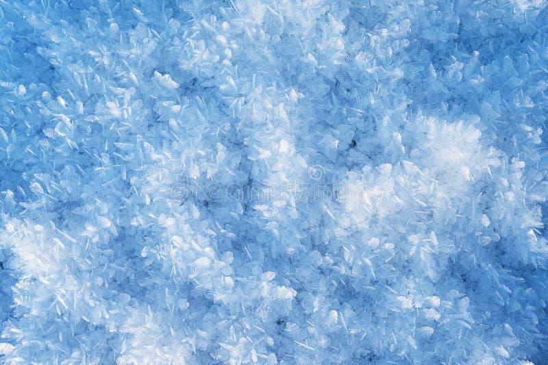 Überraschende Eiskristalle nah oben lizenzfreie stockfotos
