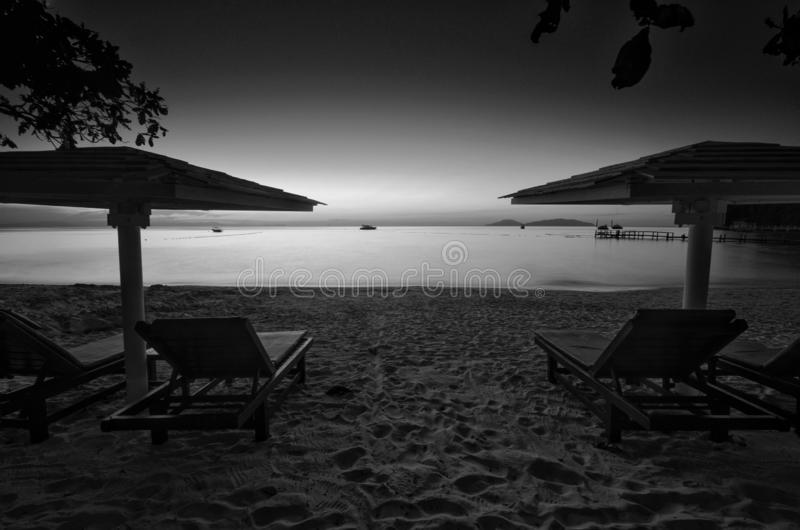 Überraschende Schwarzweiss--Lang Tengah-Insel der schönen Kunst,  Terengganu Malaysia stockfoto