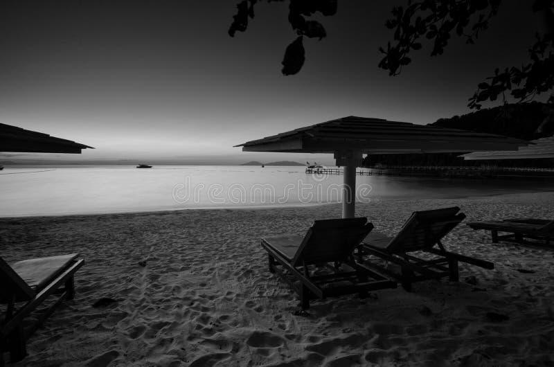 Überraschende Schwarzweiss--Lang Tengah-Insel der schönen Kunst,  Terengganu Malaysia lizenzfreies stockbild