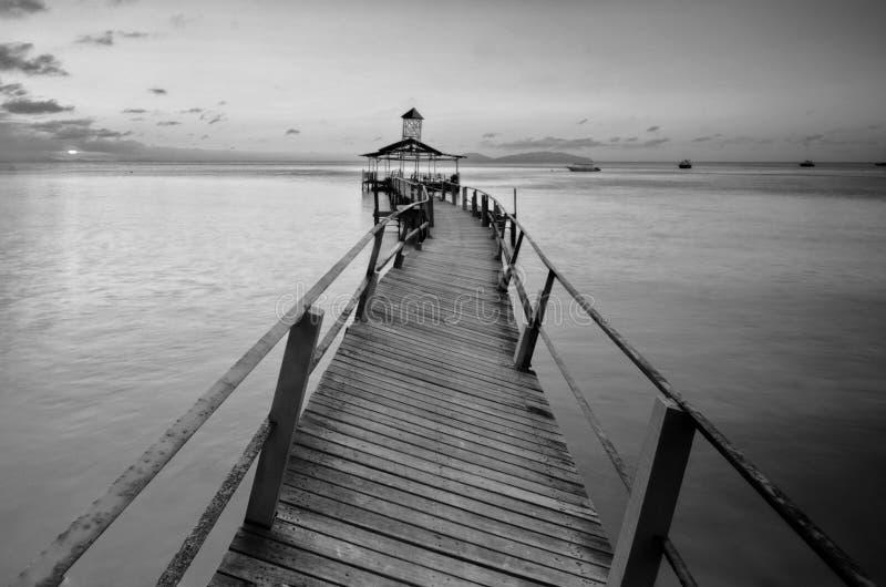 Überraschende Schwarzweiss--Lang Tengah-Insel der schönen Kunst,  Terengganu Malaysia stockbild