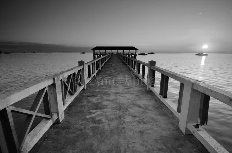 Überraschende Schwarzweiss--Lang Tengah-Insel der schönen Kunst,  Terengganu Malaysia lizenzfreies stockfoto