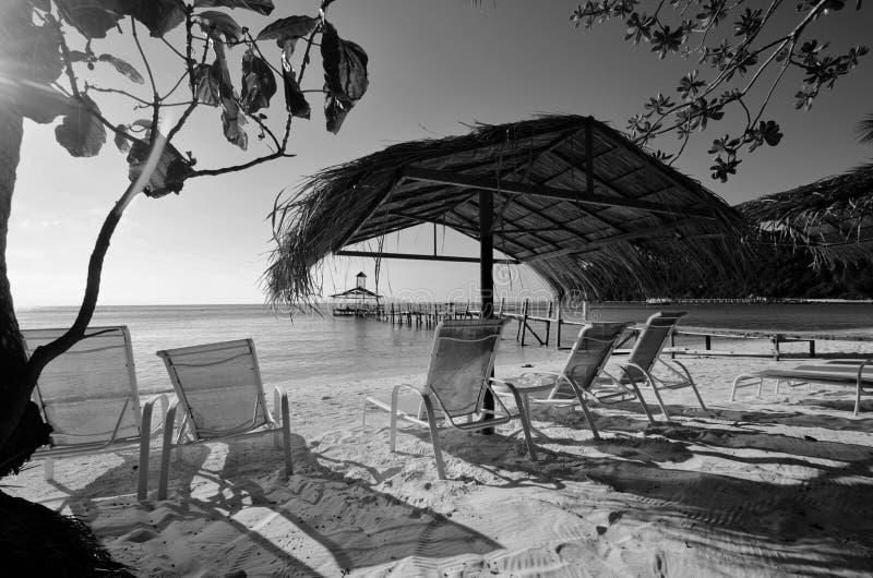 Überraschende Schwarzweiss--Lang Tengah-Insel der schönen Kunst,  Terengganu Malaysia lizenzfreie stockfotografie