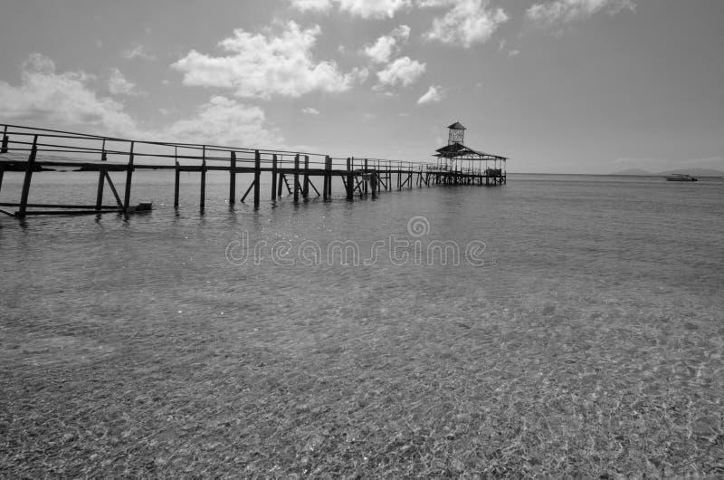 Überraschende Schwarzweiss--Lang Tengah-Insel der schönen Kunst,  Terengganu Malaysia lizenzfreie stockbilder