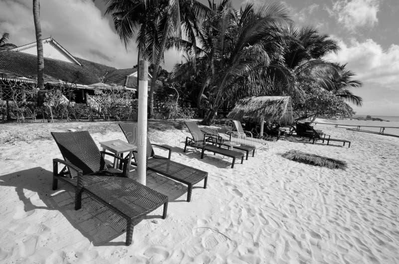 Überraschende Schwarzweiss--Lang Tengah-Insel der schönen Kunst,  Terengganu Malaysia lizenzfreie stockfotos