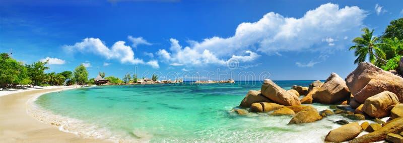 Überraschende Seychellen, Praslin stockbild