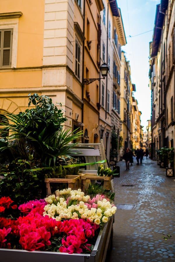 Überraschender sonniger Tag in Rom stockbild