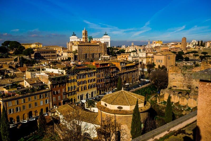Überraschender sonniger Tag in Rom stockfotos