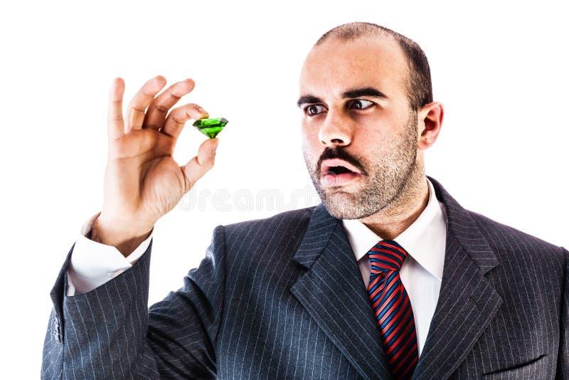 Überrascht durch Smaragd lizenzfreie stockbilder