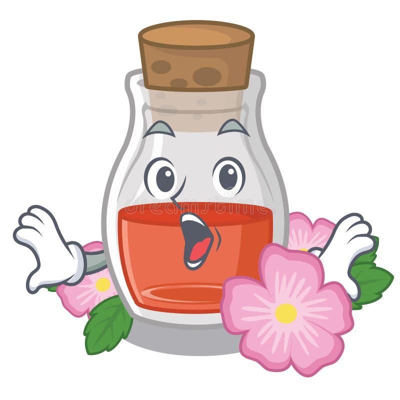 Überrascht stieg Samenöl die Karikaturform stock abbildung