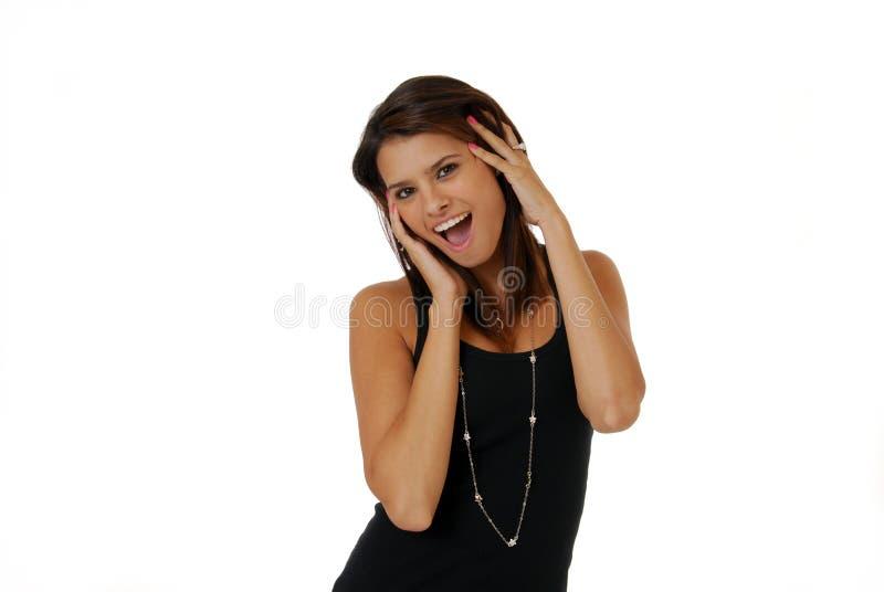 Überraschte Frau lizenzfreie stockfotografie