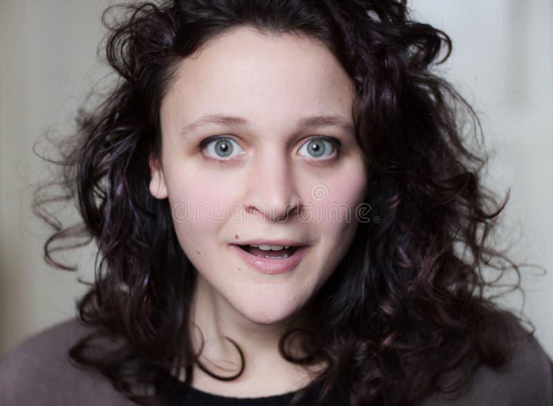 Überraschte Frau lizenzfreies stockfoto