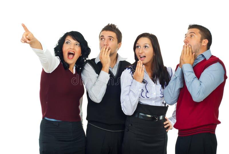 Überraschte Geschäftsleute Team lizenzfreie stockfotografie