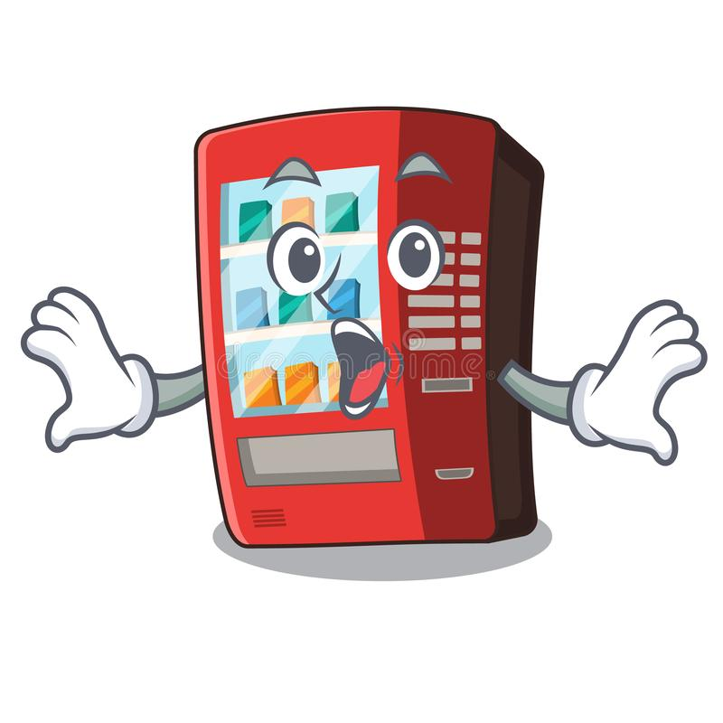 ?berraschter Automat nahe bei Charaktert?r stock abbildung