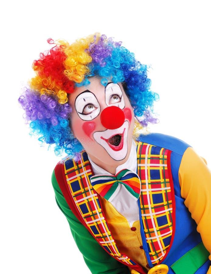 Überraschter Clown lizenzfreie stockfotografie