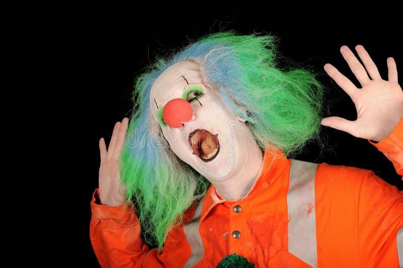 Überraschter Clown lizenzfreies stockfoto