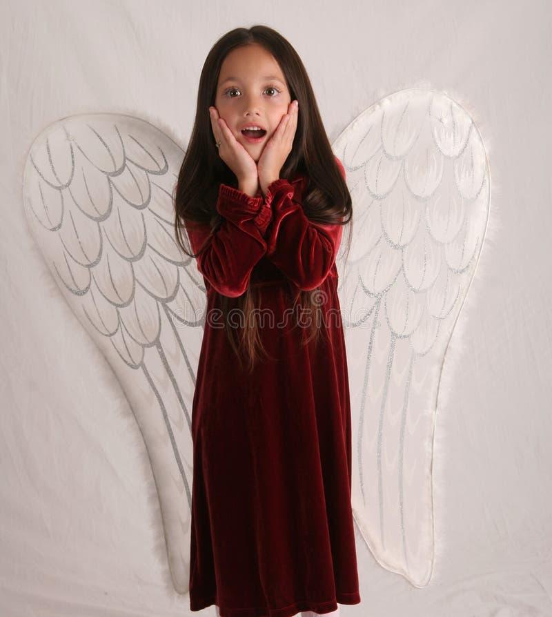 Überraschter Engel stockbilder