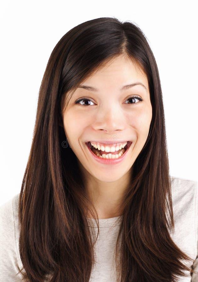 Überraschtes Lächeln lizenzfreies stockfoto