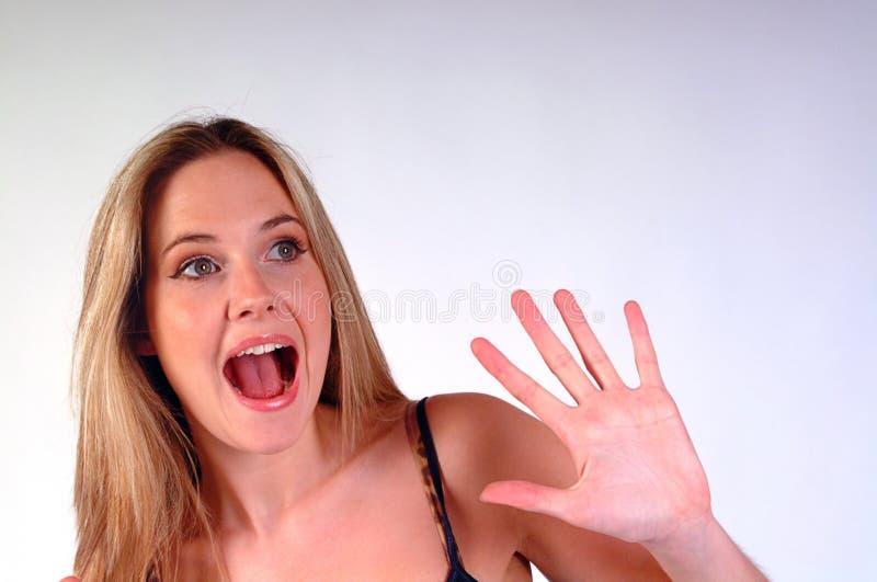 Überraschtes Mädchen stockbilder
