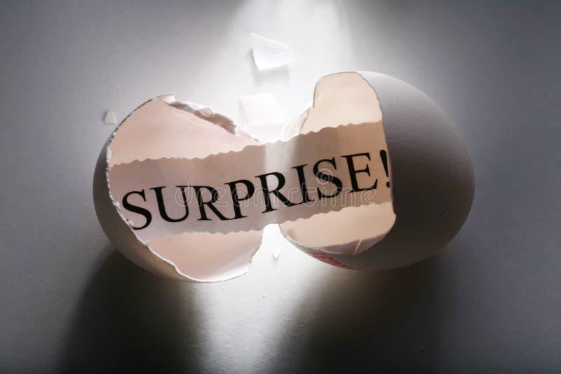 Überraschung! stockbild