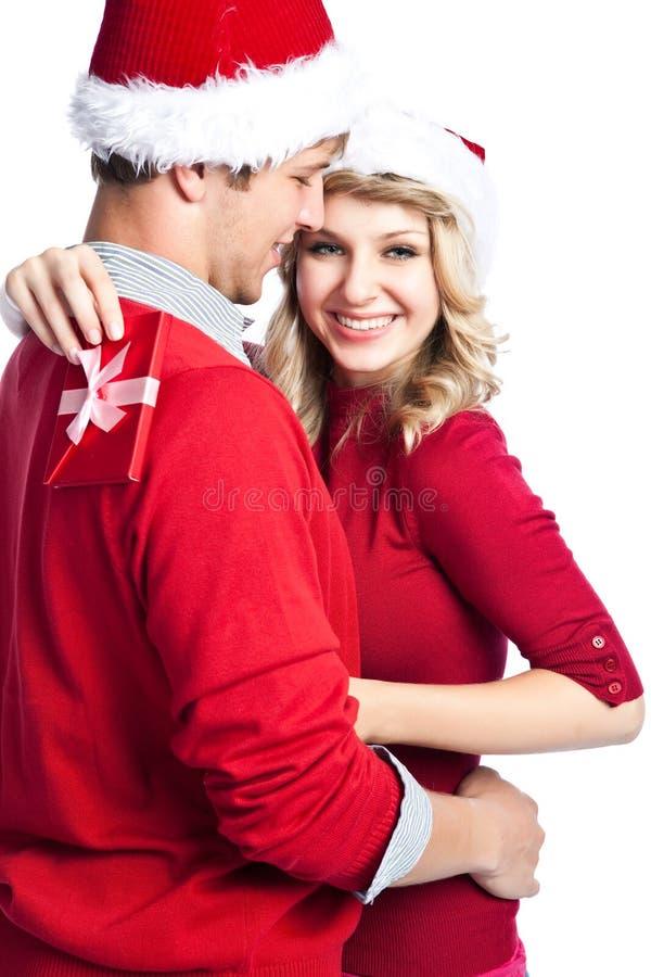 Überraschungsweihnachtsgeschenk lizenzfreie stockfotos