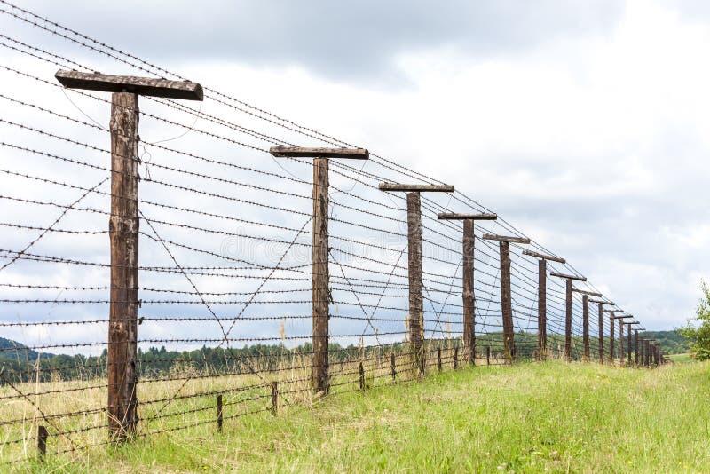 Überreste des eisernen Vorhangs, Cizov, Tschechische Republik stockfotografie