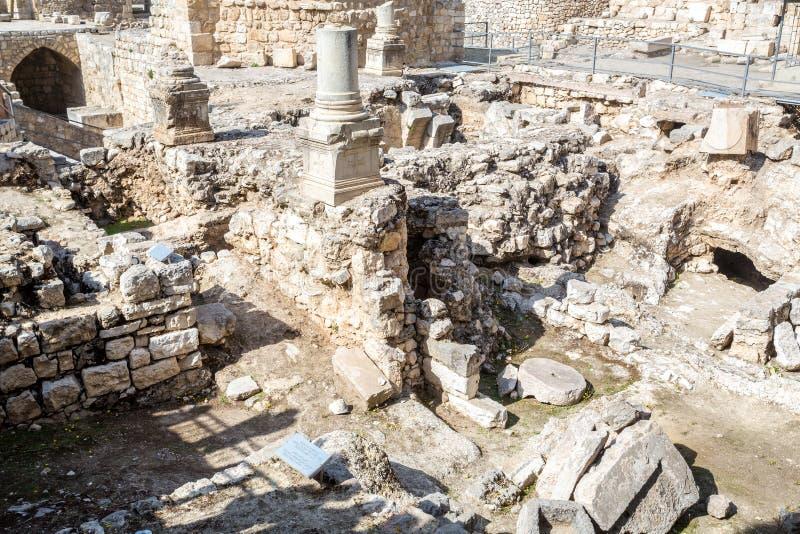 Überreste von Bethesda Pool, Jerusalem lizenzfreie stockbilder