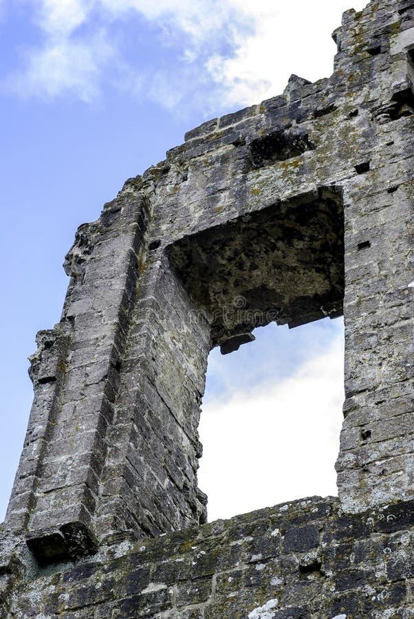 Überreste von Corfe-Schloss stockfoto