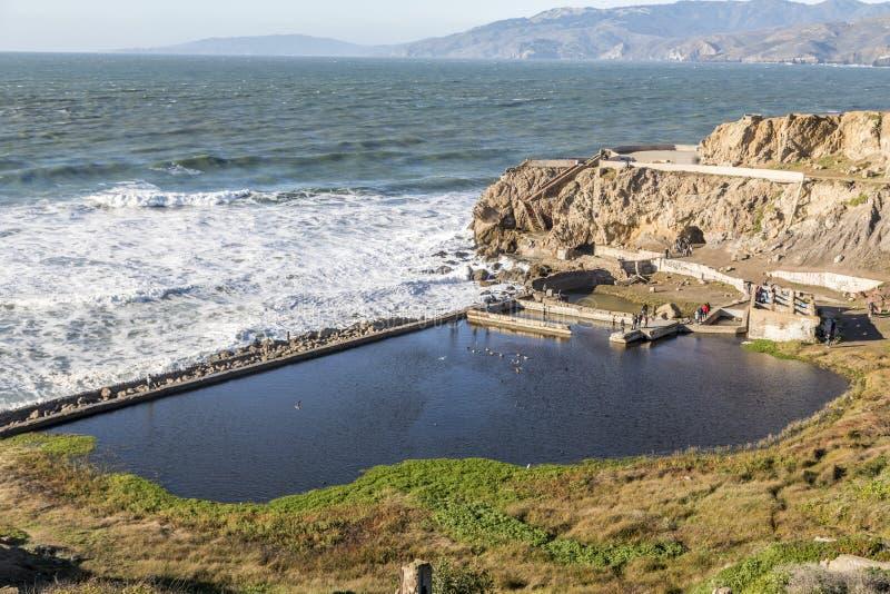 Überreste von Sutro-Bädern San Francisco California lizenzfreies stockfoto