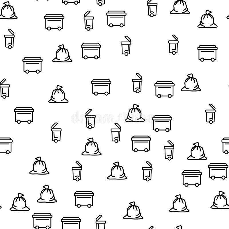 Überschüssige Emissions-Sammlungs-nahtloser Muster-Vektor stock abbildung