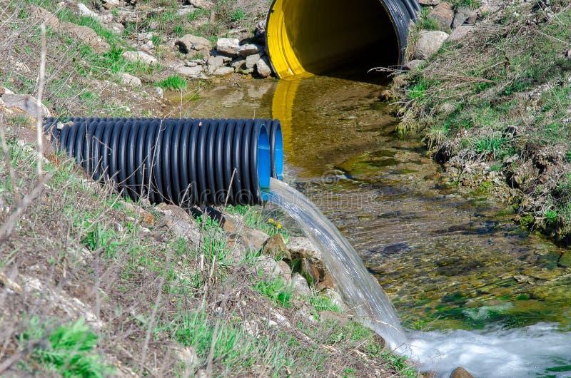 Überschüssige Wasserleitung lizenzfreie stockfotos
