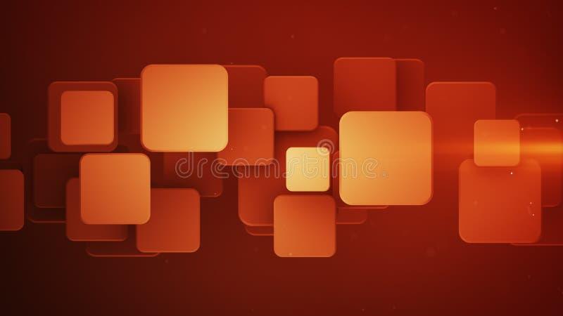 Überschneidene rote Quadrate 3D abstrakten Hintergrund übertragen stock abbildung