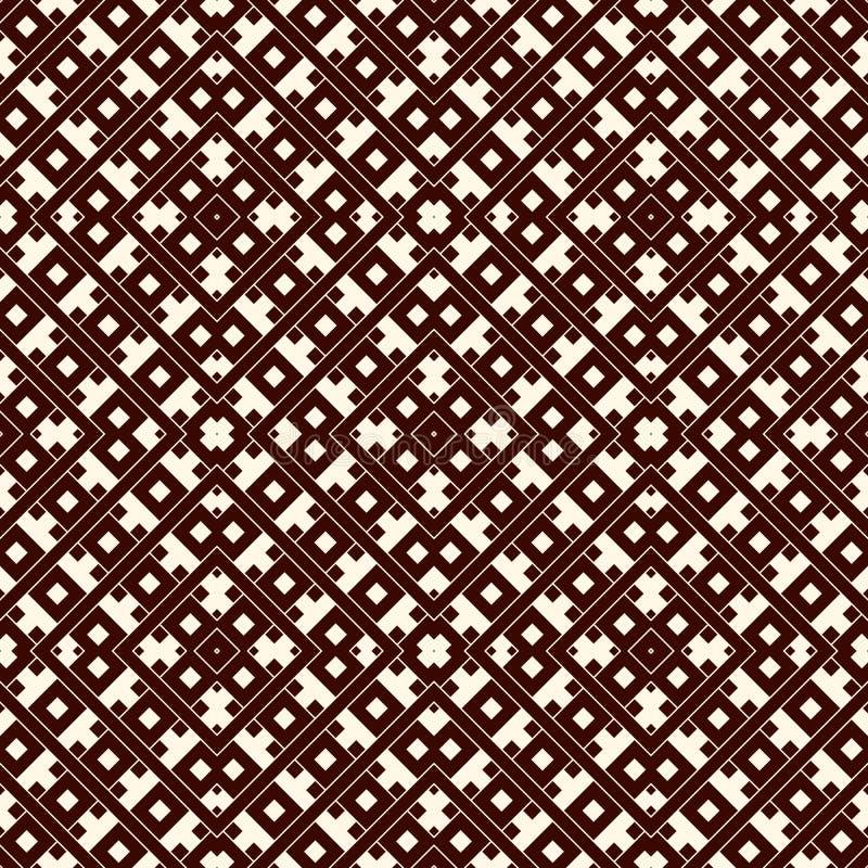 Überschneidungsrechtecke und Quadrathintergrund Nahtloses Musterdesign mit wiederholten geometrischen Zahlen der Überlagerung lizenzfreie abbildung