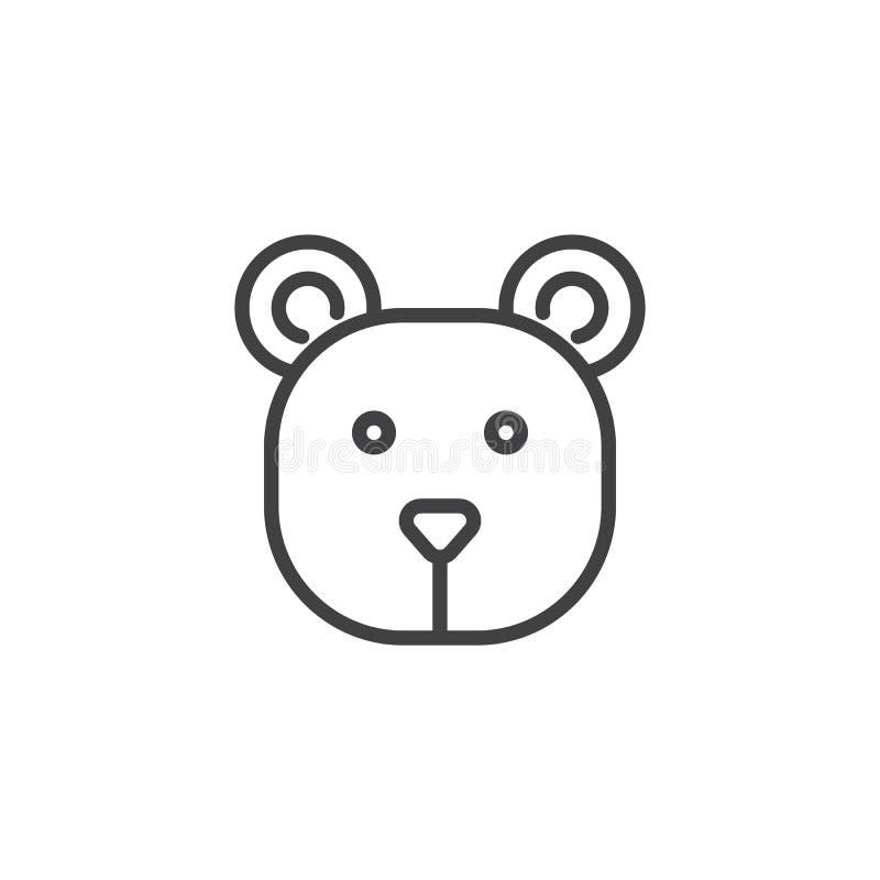 Überschrift Ikone des Bären lizenzfreie abbildung