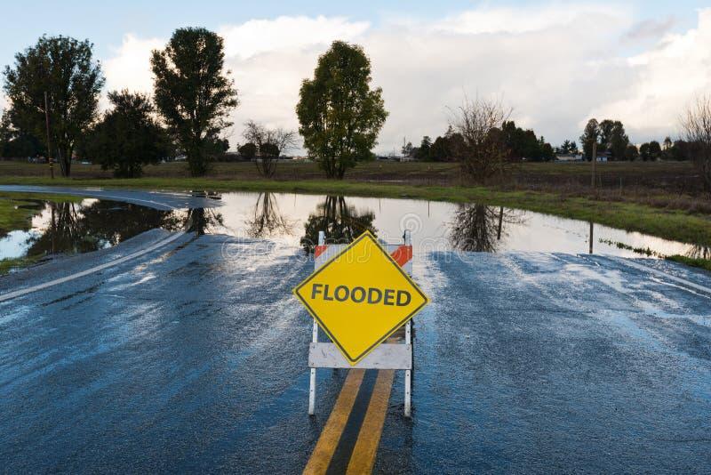 Überschwemmt stockbild