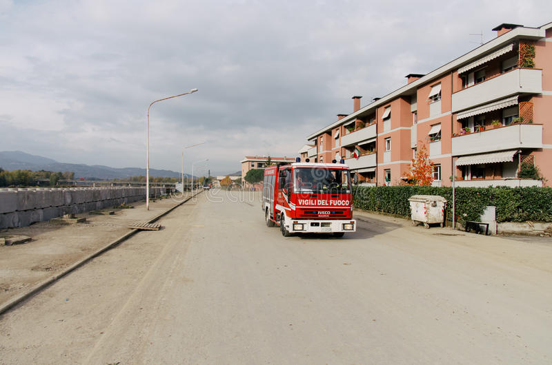 Überschwemmung, Italien lizenzfreie stockbilder