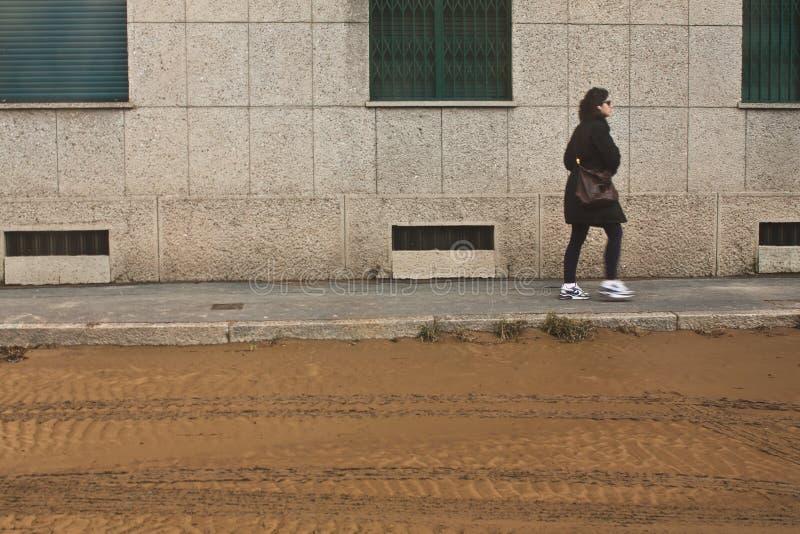 Überschwemmung Mailand stockfotos