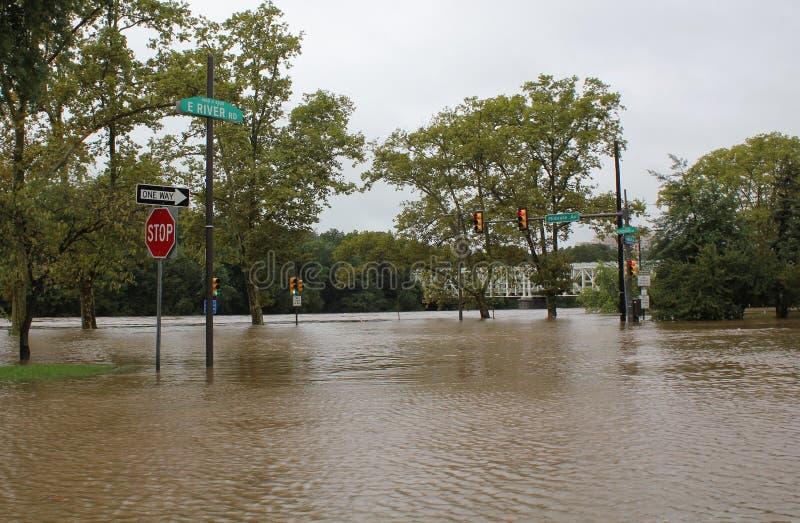 Überschwemmung in Philadelphia stockbild