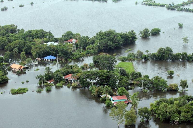 Überschwemmung in Tawung, Lopburi, Thailand stockfoto