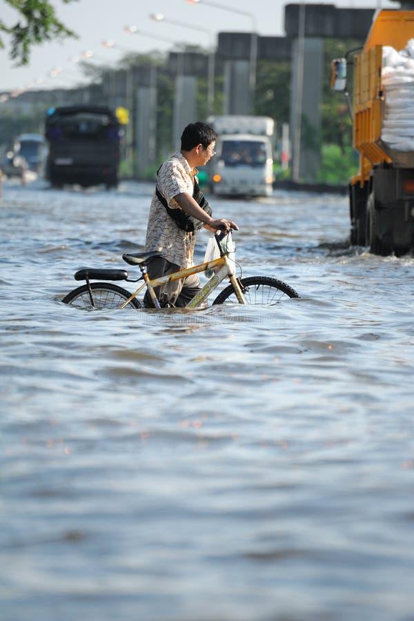 Überschwemmung in Thailand stockfoto