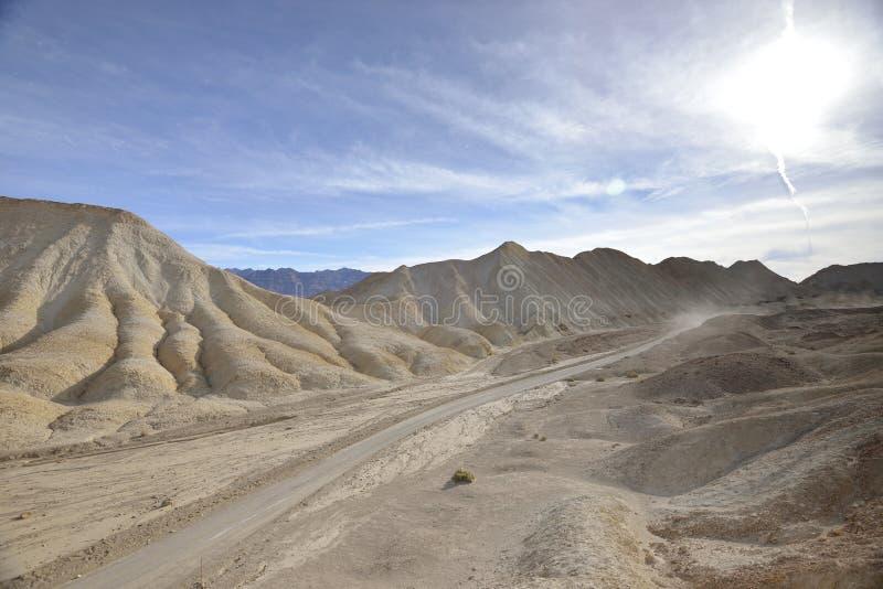 Übersehen Sie von Schlucht das Team mit 20 Maultieren, Death Valley stockbild