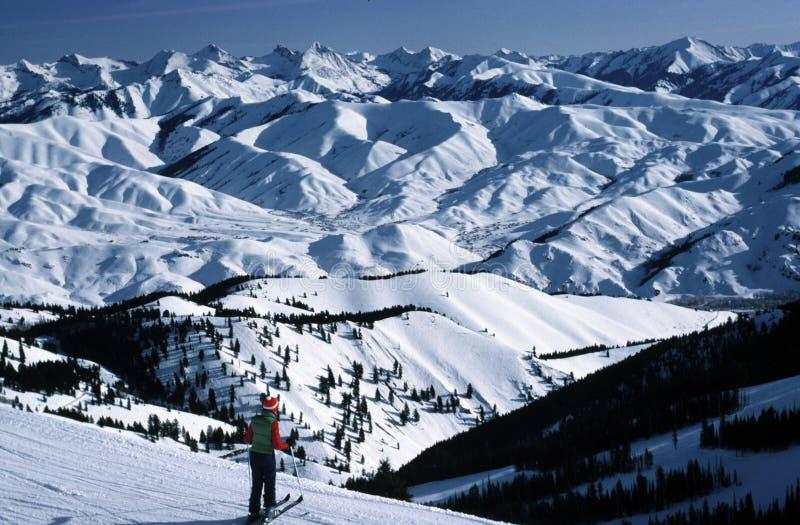Übersehensun valley, Idaho stockbilder