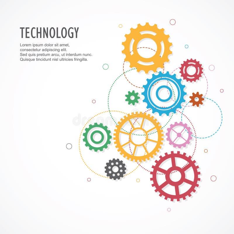Übersetzt Hintergrund mit Technologiekonzept stock abbildung