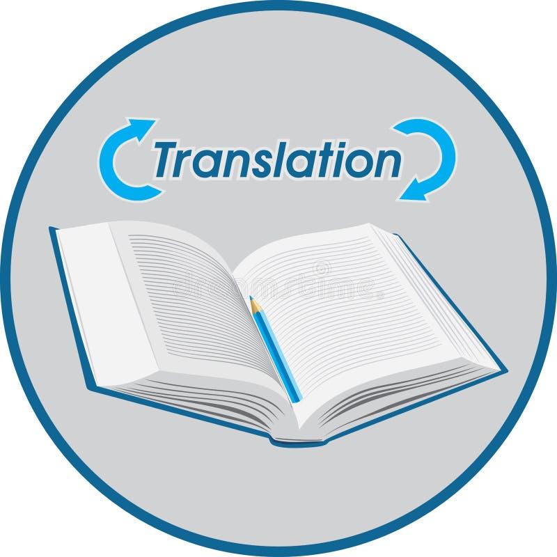 Übersetzung Ikone für Auslegung stock abbildung